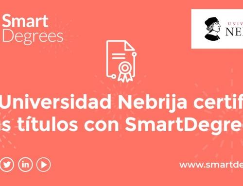 A Universidade Nebrija oferece a seus alunos a certificação digital de seus diplomas